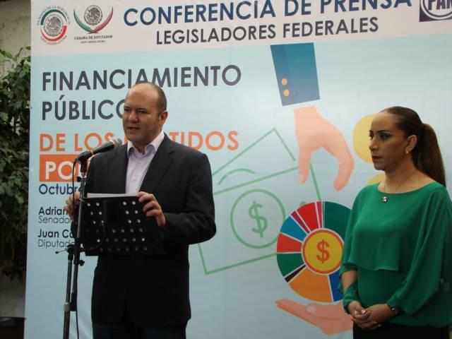 Impulsarán ADF y Juan Corral iniciativa de GPPAN para eliminar financiamiento a partidos
