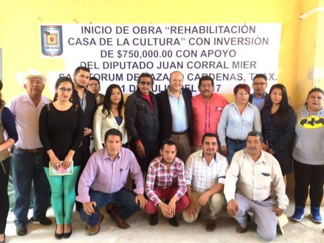 Con gestión de Juan Corral Mier se rehabilita Casa de la Cultura de Sanctórum