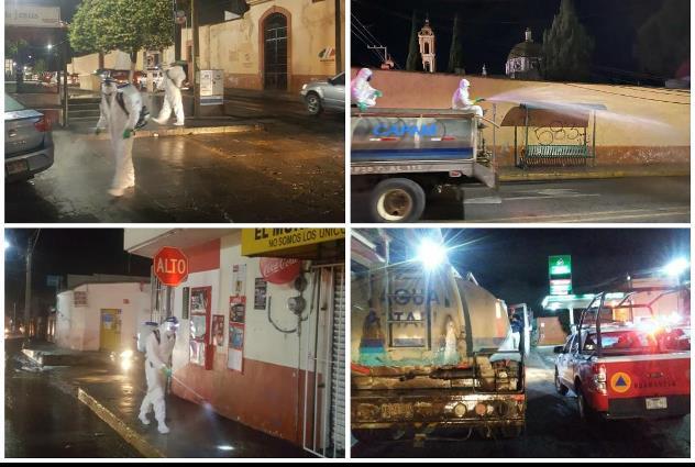 Jornadas de sanitización se mantienen vigentes en Huamantla