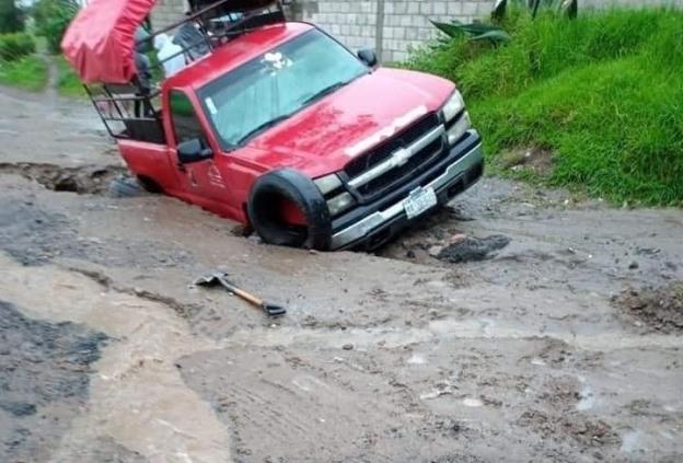 Tromba que azotó a Huamantla dejó daños materiales severos