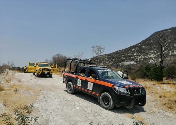 Se incendia el Cerro Blanco de los Reyes; PC de Totolac sofocó las llamas
