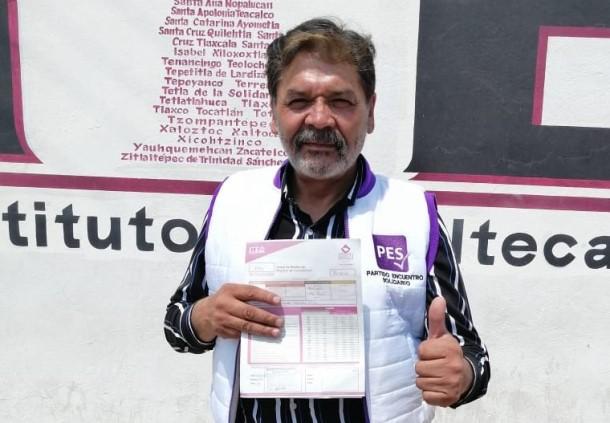 Ricardo Morales se registra como candidato del PES a la alcaldía de Apizaco