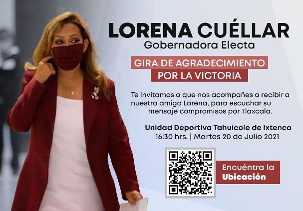 Programan visita de la gobernadora electa Lorena Cuéllar a Ixtenco