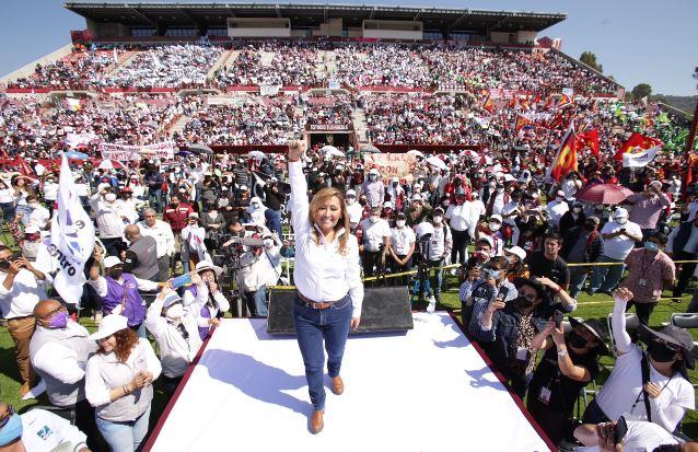 Ya se respiran aires de victoria, afirma Lorena Cuéllar en su cierre de campaña