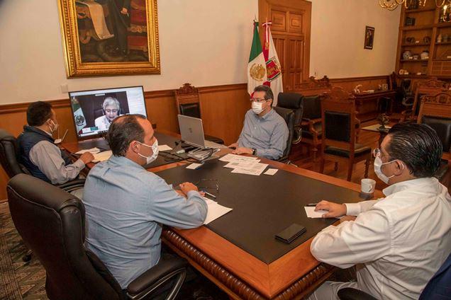 Marco Mena participa en reunión sobre reactivación económica