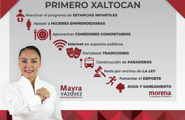 Mayra Vázquez Velázquez se mantiene como favorita para la alcaldía de Xaltocan
