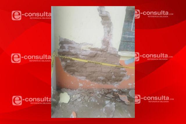 Reportan daños por temblor en primaria de Nativitas