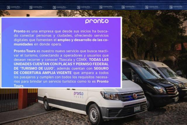 Pronto Tours reconoce irregularidad al operar con placas de Turismo