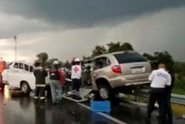 Tres personas mueren en trágico accidente sobre autopista Tlaxcala-Puebla