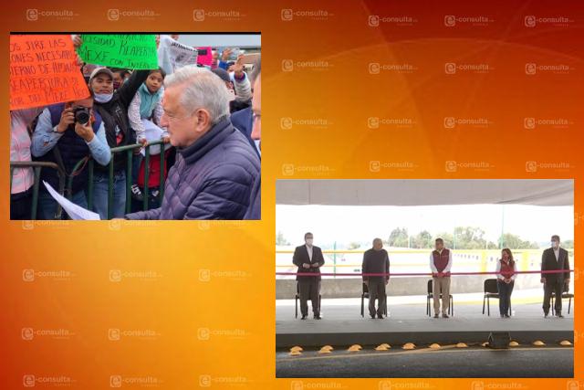 Aprovechan tlaxcaltecas visita de López Obrador para pedir justicia