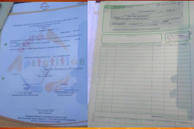 En Apetatitlán detectan pagos a hermana del ex alcalde de Totolac
