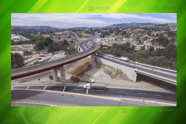 Anuncian cierre intermitente de la carretera Tlaxcala-Apizaco para colocar trabes en Ocotoxco