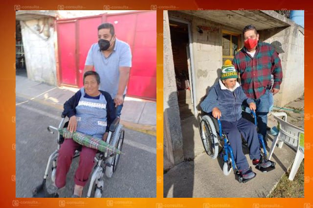 Entrega diputado Víctor Castro sillas de ruedas a enfermos renales