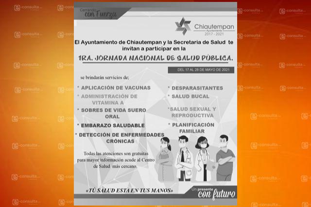 En Chiautempan se desarrolla la primera jornada de salud pública