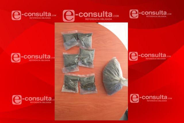 Detienen en Tocatlán a tres sujetos por posesión de marihuana