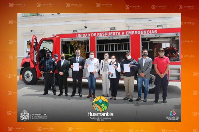 Huamantla tendrá camión de bomberos para atender siniestros