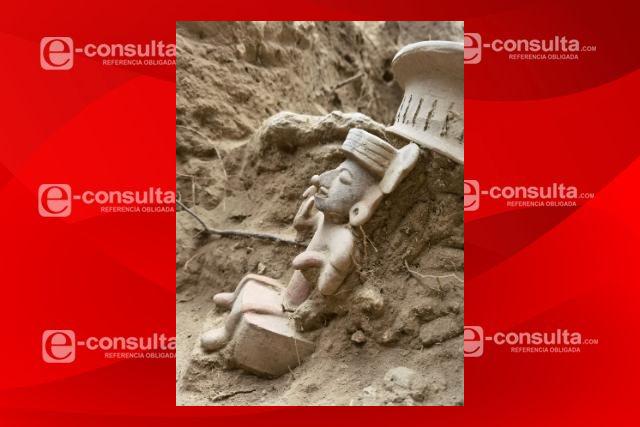 Descubren ofrenda en zona arqueológica de Xochitécatl, Tlaxcala