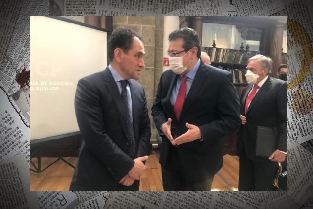 Marco Mena y Conago se reúnen con secretario de Hacienda