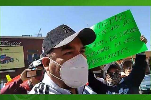 Con marcha, pobladores de Chiautempan piden continuidad de nuevo panteón