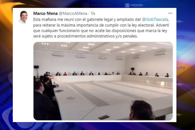 Gobernador Mena lanza advertencia a sus funcionarios para que respeten la ley
