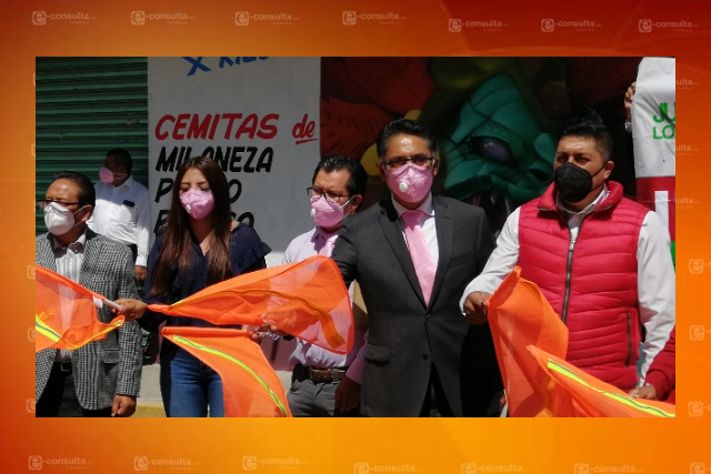 Jesús Herrera inicia pavimentación en avenida Zaragoza de Papalotla