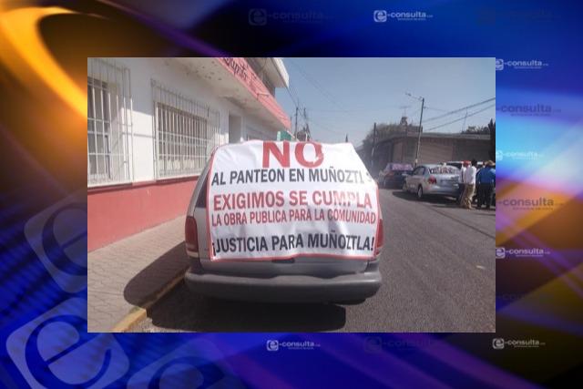 Descartan más negociaciones para nuevo panteón, advierten pobladores de Muñoztla