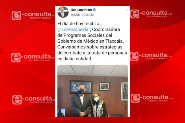 Santiago Nieto le tapa la boca a detractores de Lorena con una foto