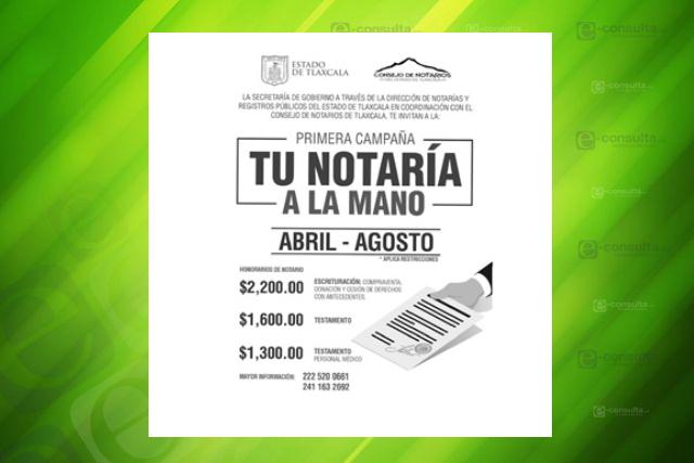 Segob y Notarios de Tlaxcala firman convenio de colaboración