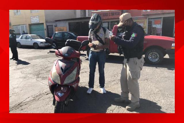 En Huamantla se realizan operativos de verificación de motocicletas