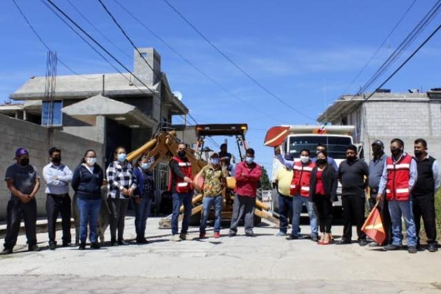 Jaime Pérez da banderazo a repavimentación de calle San José en Teotitla