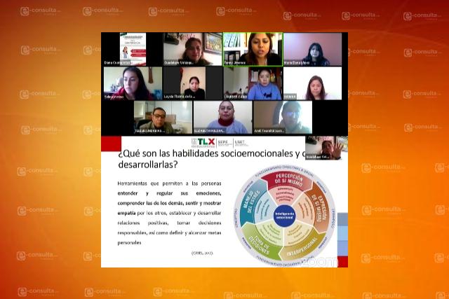 Presentan estrategias socioemocionales en conferencia del PNCE Tlaxcala