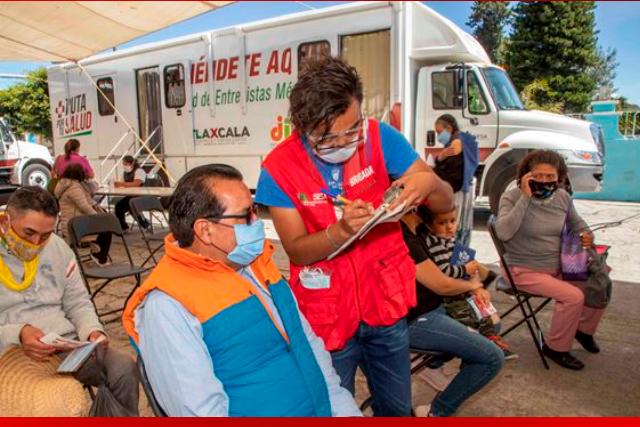Ruta por tu salud ha realizado más de 32 mil acciones en Tlaxcala capital