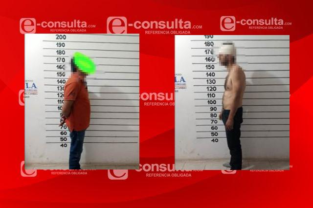 Detienen en Tetla hombres implicados en robo a mini súper