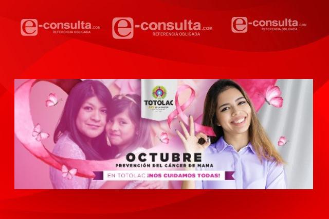 Ayuntamiento de Totolac pugna para prevenir el cáncer de mama