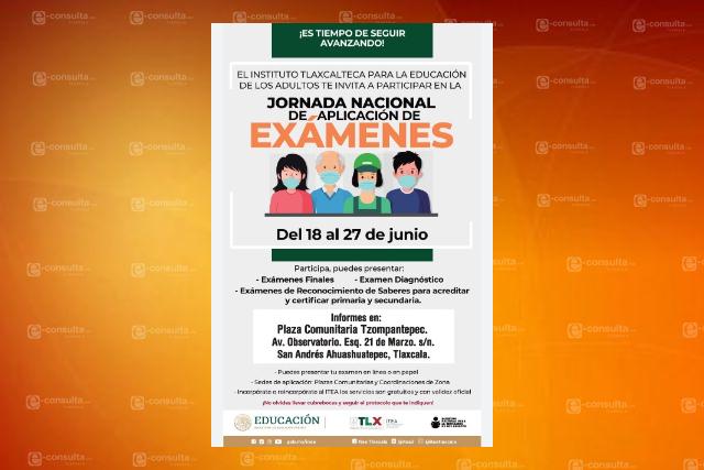 Convocan en Tzompantepec a la jornada nacional de exámenes