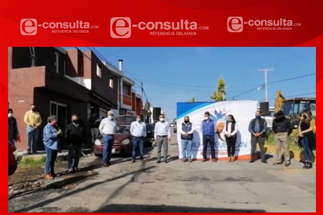 Inicia obra en San José Tetel; Villarreal Chairez cumple compromisos