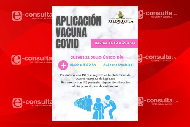 Aplicarán en Xiloxoxtla la vacuna contra el Covid 30- 39