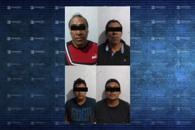 Policía de Zacatelco asegura a cuatro masculinos por probable delito de privación ilegal de la libertad