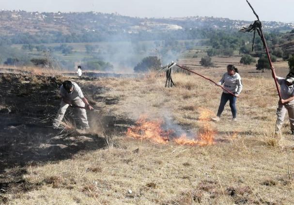 Evitar quema de pastizales, piden autoridades de Nativitas