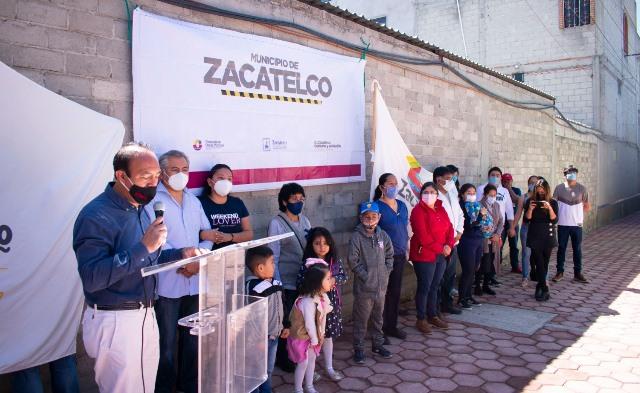 Alcalde de Zacatelco continúa inaugurando obras