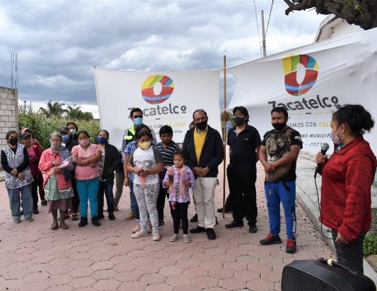 Inaugura Tomás Orea la calle Tlaxixtla en la sección segunda