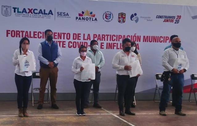 En marcha brigadas municipales Covid-19 e Influenza en Panotla