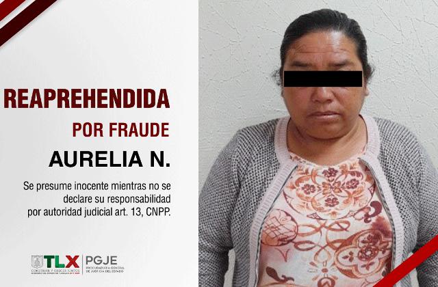 Reaprehenden a mujer imputada por fraude de un predio