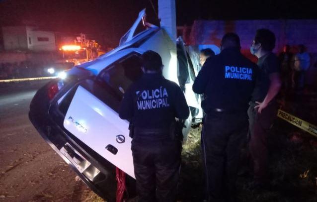 Pone a disposición policía capitalina vehículo del accidente en Atlahapa