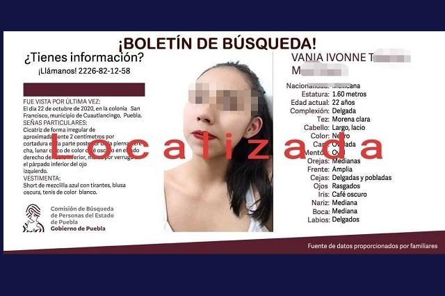 Mujer muerta ubicada en Tlaxcala fue declarada desaparecida en Puebla