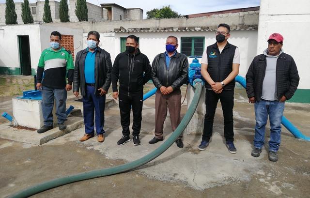 En Quilehtla dejará de escasear el agua potable: Oscar Pérez
