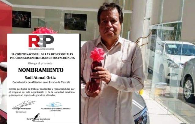 Nahum, candidato borrachín de Morena, también chaquetea en RSP