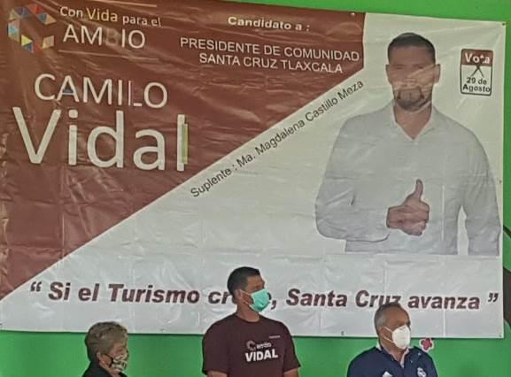 José Alejandro Aguilar da espaldarazo a Camilo Vidal en Santa Cruz Tlaxcala