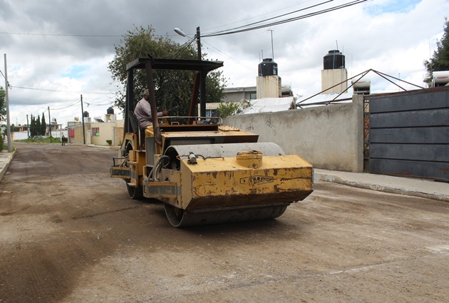 Registra avance del 80% pavimentación de calle Cuauhtémoc