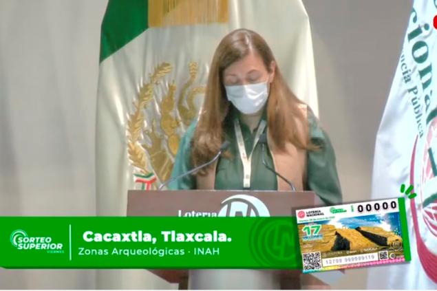 Lotería Nacional dedica sorteo a Cacaxtla- Xochitécatl